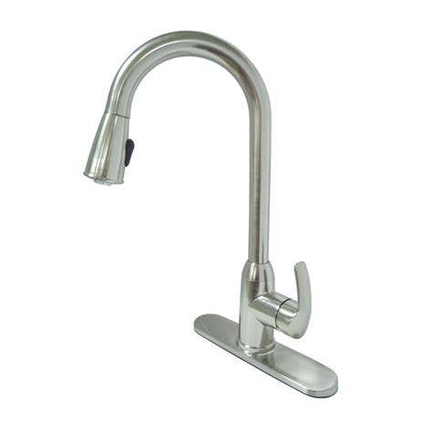pull down kitchen faucet brushed nickel kissler co dominion single handle pull down sprayer