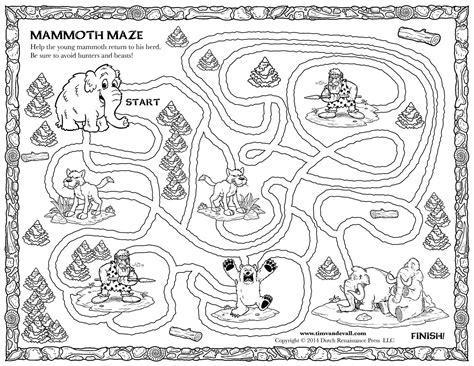 printable pirate treasure map for kids adult coloring woolly mammoth printable maze coloringpages early
