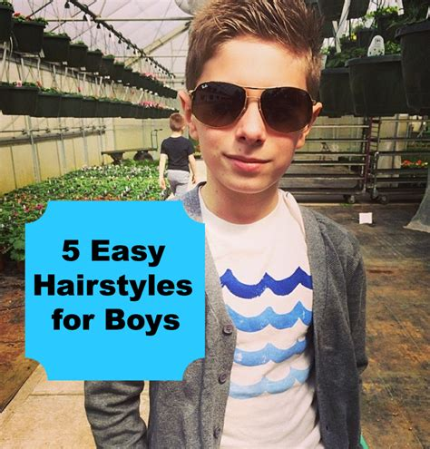 simple hairstyles for boys 5 easy hairstyles for boys stylish for