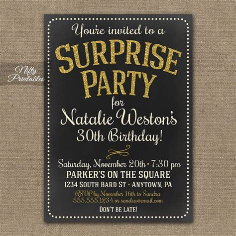 printable 60th birthday party invitations best 25 60th best 25 surprise birthday invitations ideas on pinterest