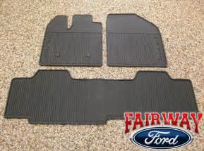 All Weather Floor Mats Ford Edge 2011 Thru 2014 Edge Oem Genuine Ford Black Rubber All