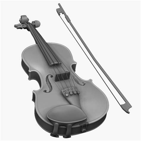Violin Giveaway - violin zbrush strings obj