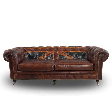 vintage echtleder chesterfield sofa union ledersofa 3