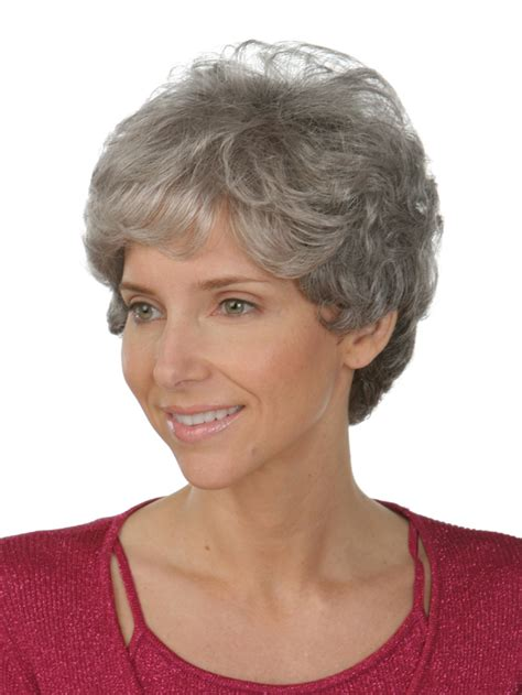 short hair wigs for older women short wavy hairstyles for older women with gray hair