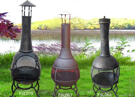 Chiminea Outdoor by Cmc 360 Degree Chiminea Outdoor Fireplace Fsl066 Fsl075