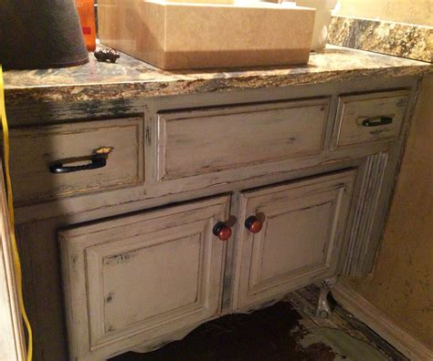 Painted Glazed Distressed Bathroom Vanity Started With Distressed Bathroom Furniture