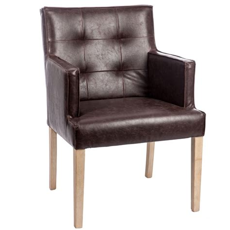 chaise capitonn 233 e avec accoudoirs marron scotty univers