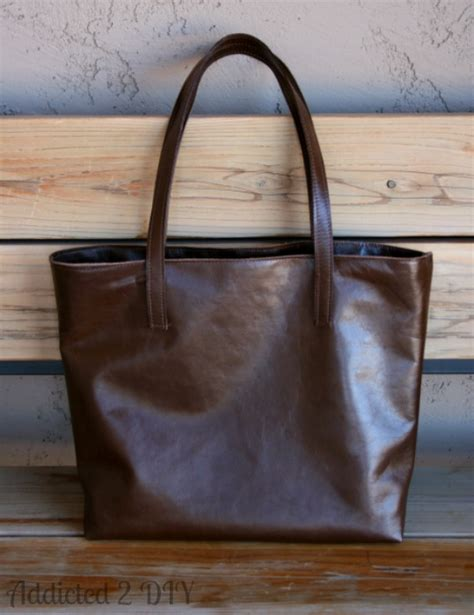 Make Your Own Leather Tote Tutorial   Addicted 2 DIY