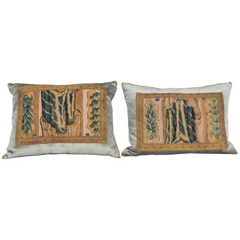 Antique Tapestry Pillows by Pair Of Antique Tapestry Pillows For Sale At 1stdibs