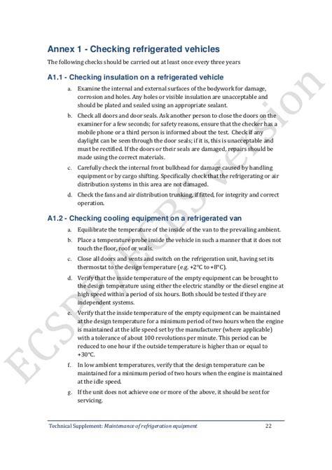 supplement 9 maintenance of refrigeration equipment hdbs9 phụ lục 9 gmp who bảo dưỡng thiết bị lạnh