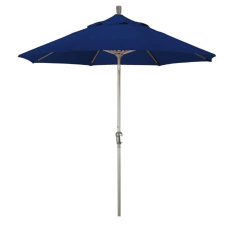 Sunbrella Patio Umbrella California Umbrella 9 Sunbrella Fabric Aluminum Auto Tilt Market Umbrella With Chagne