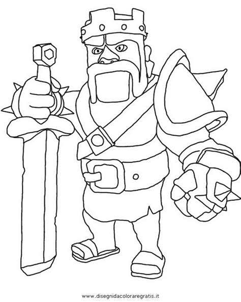 barbarian king coloring pages clash of clans characters drawings quotes
