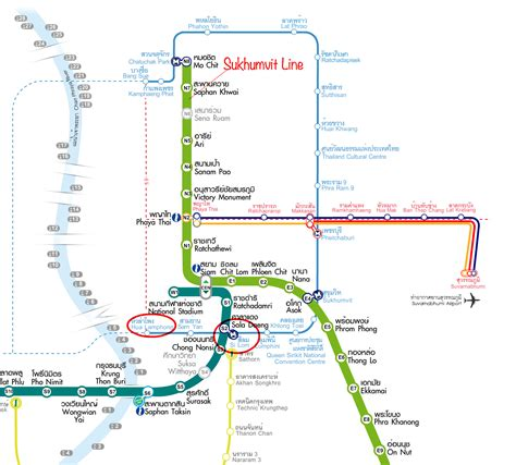 bts thailand bangkok map with bts and mrt