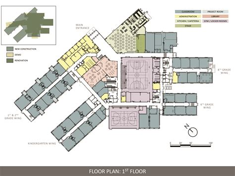middle school floor plans ellsworth elementary middle school aia maine