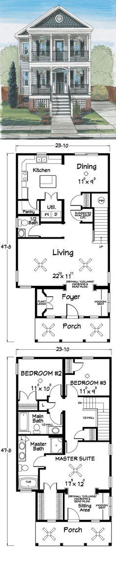 New Orleans Style Floor Plans | dream homes on pinterest house plans floor plans and