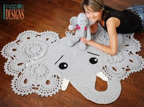 Elephant Rug Pattern Free by Crochet Animal Rugs Beautiful Patterns The Whoot