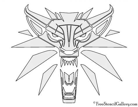 witcher wolf logo stencil  stencil gallery