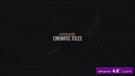 4k Cinematic Titles After Effects Template Motion Array 187 Free After Effects Templates Cinematic Title After Effects Template