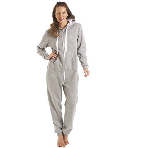 Jamsuit Kombi Grey fox in a box womens grey hooded onesie