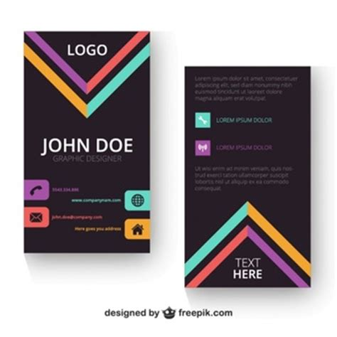 verticle business card template vertical vectors photos and psd files free