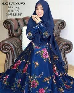 Najwa Jumbo gamis syari maxmara najwa xl busana muslimah motif jumbo