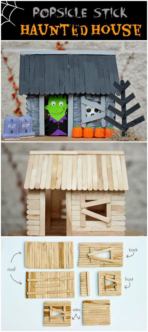 How To Make A Haunted House Out Of Paper - make a stick house