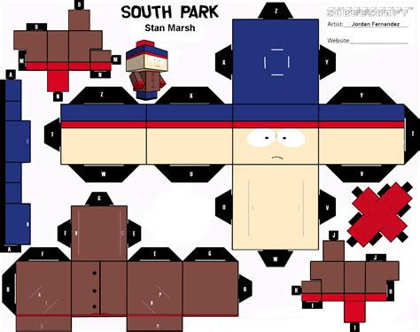 Papercraft Park - papertoys south park south park paper toys and template