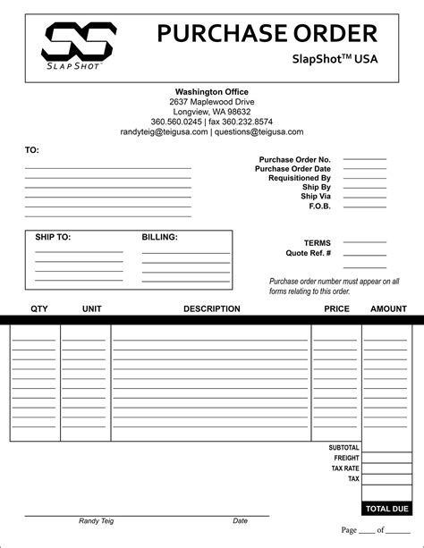 Purchase Order Template On Behance Indesign Order Form Template