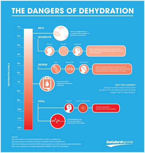 dehydration of hydration for runners infographic the dangers of