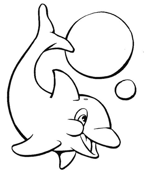 preschool coloring pages dolphin dolphin the fish playing ball with beautiful coloring
