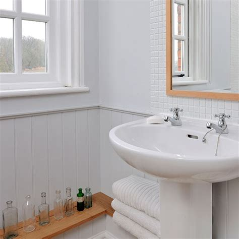 panelled bathroom ideas white panelled bathroom housetohome co uk