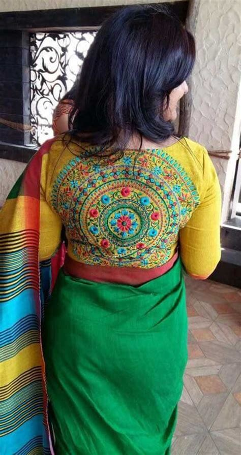 boat neck hand embroidery designs 15 different embroidery blouse designs for back neck blouses
