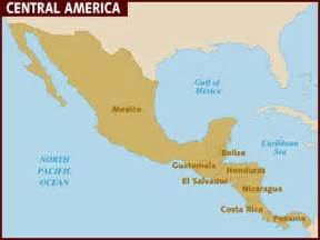 map central america south america map of central america