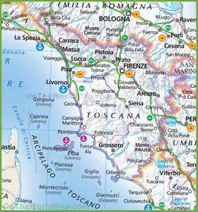 Map Of Tuscany Italy by Map Of Tuscany Italy Grey
