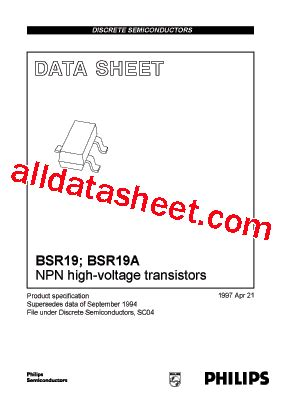 Mpsa42 Philips Nos bsr19a datasheet pdf nxp semiconductors