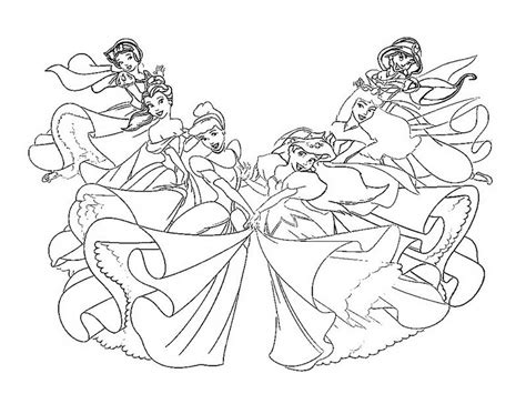 All Disney Princess Coloring Pages Freewebs 416916 All Disney Princesses Together Coloring Pages