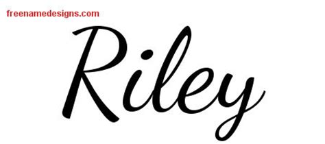 riley name tattoo design lively script name designs free printout