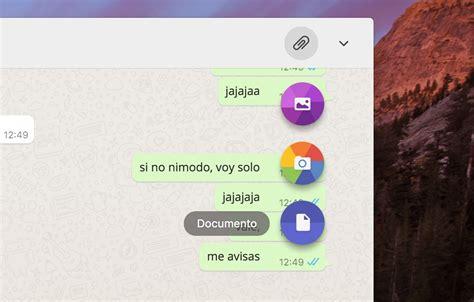 escritorio whatsapp whatsapp estrena su aplicaci 243 n nativa para windows y mac