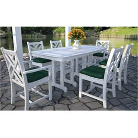 chippendale patio furniture polywood chippendale dining set 7 furniture for