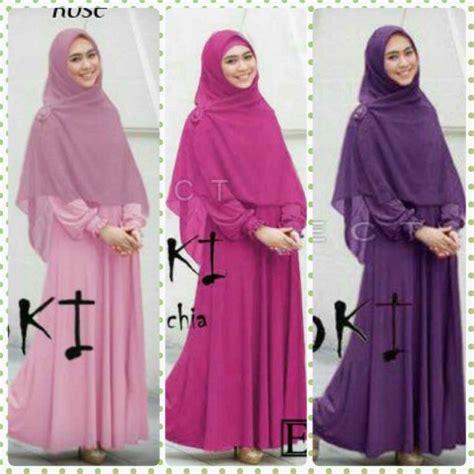 Baju Muslim Ukuran Big Size baju gamis set oki xl busana muslim ukuran besar big size