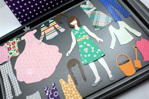 How To Make Magnetic Paper Dolls - magnetic paper doll set pebbles inc