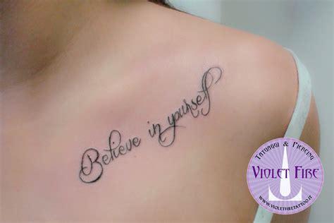 tatuaggi scritte vasco tatuaggio scritta su spalla believe in yourself violet