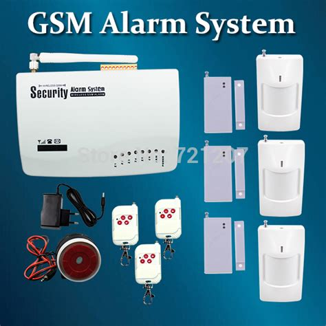 wireless gsm alarm system remote for home security