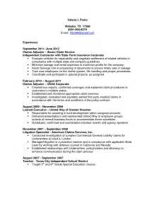 Claims Representative Resume by Insurance Claims Representative Resume Sle Resume
