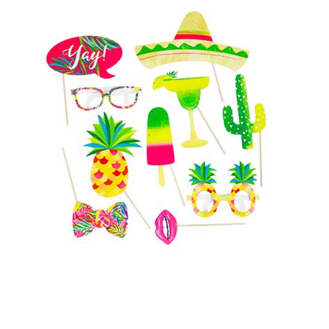 tropical party props cocktails and dreams photo booth accessoires photobooth tropical