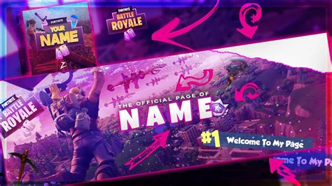Fortnite Battle Royale Template Twitter Header Logo Doovi Fortnite Header Template