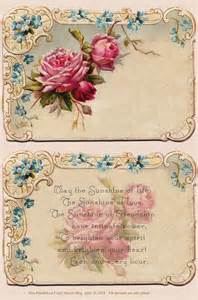 beautiful free antique card and poem for personal