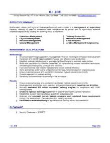 resume executive summary exle berathen