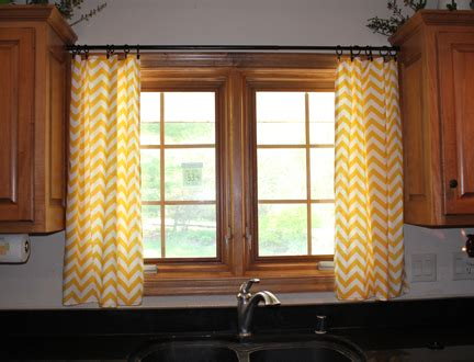Yellow Chevron Kitchen Curtains