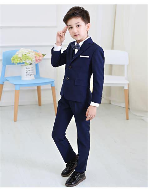 Dress Babyblues Set 5pcs set baby boys blazers suit for wedding childern
